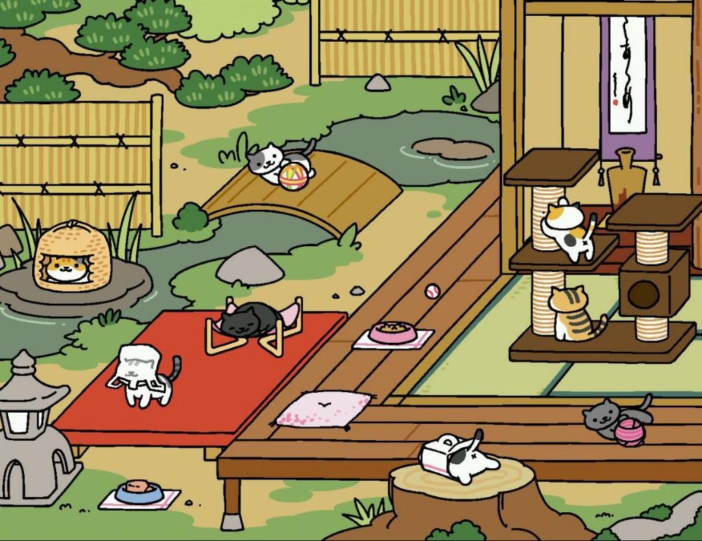 Neko Atsume garden